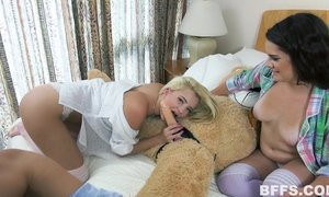blonde, friend of son, lesbian milfs, mature babe, moms in bed, naughty mom
