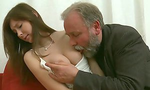 dirty milf, girlfriend, grandpa, juicy pussy, pussy licking