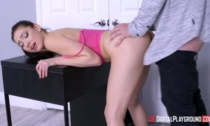 Step siblings sex with small titted young sister Aria Alexander