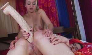 Blonde And Brunette Double-Team Lucky Guy