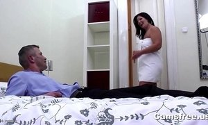 Mature Big Booty Step-Mom Seduces Young Cock
