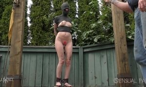 domination, mature babe, neighbor, outdoor, pussy