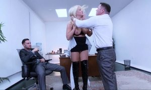 blonde, blowjob, bondage, deepthroat, domination