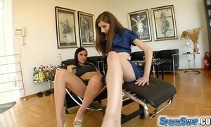 Sperm Swap Two cum hungry teens swallow all there given