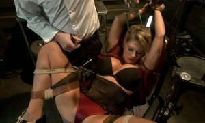 blonde, bondage, extreme, fetish, rough