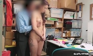 Naomi Mae sucking the LP Officers big cock