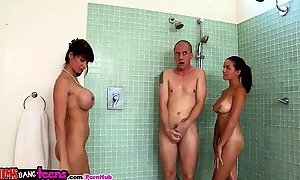 Moms Bang Teens - Mom finds Teens in the shower