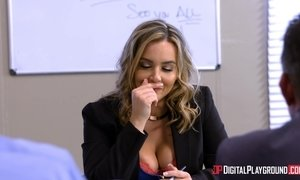 Tyler Nixon bangs gorgeous blonde chick in the office