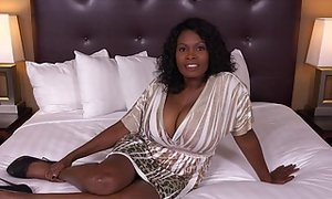 Ebony woman with big tits