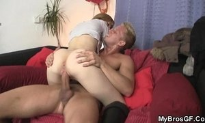 His rod pounds her cheating cunt